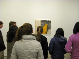3-10-11 viewing the Christo artwork at the Akron Art Museum