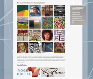 Akron Art Museum Online Collection Screenshot