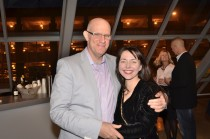 """Barry Underwood and Sarah Kabot at the opening of """"SuperNatural: Landscapes by Bruce Checefsky and Barry Underwood"""""""