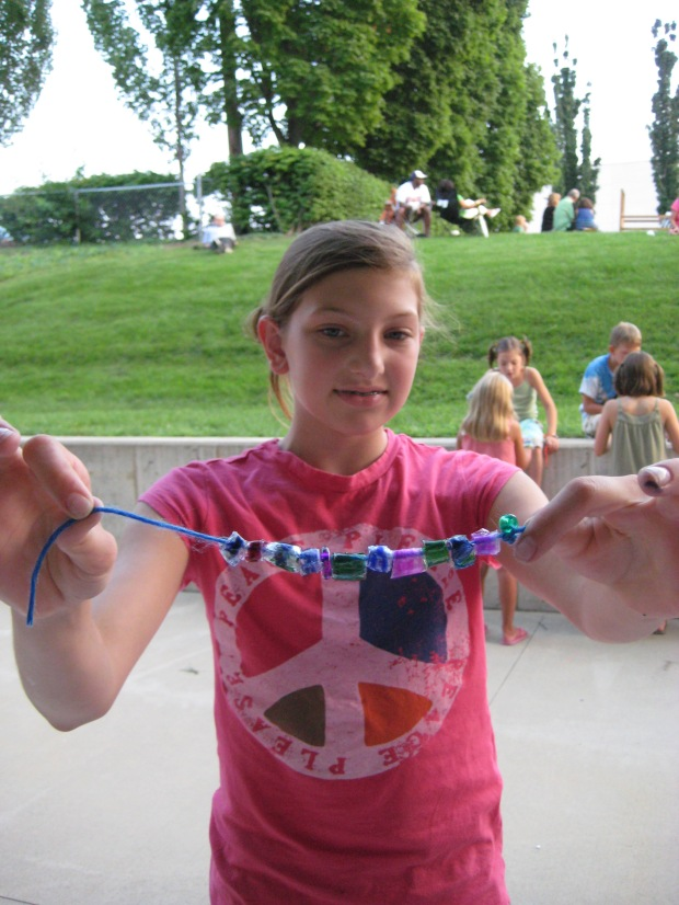 A whole bracelet of plastic beads!