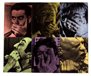 John Baldessari, Six Colorful Gags (Male) , 1991