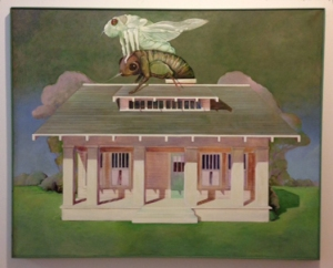 Ellen Lanyon, Cicada, 1974, acrylic on canvas, 49 x 59 in.