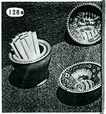 Ashtrays and cigarette box from the Useful Objects for the Home exhibition catalog, 1947, Akron Art Museum Archives