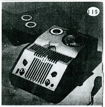 Wire recorder from the Useful Objects for the Home exhibition catalog, 1947, Akron Art Museum Archives