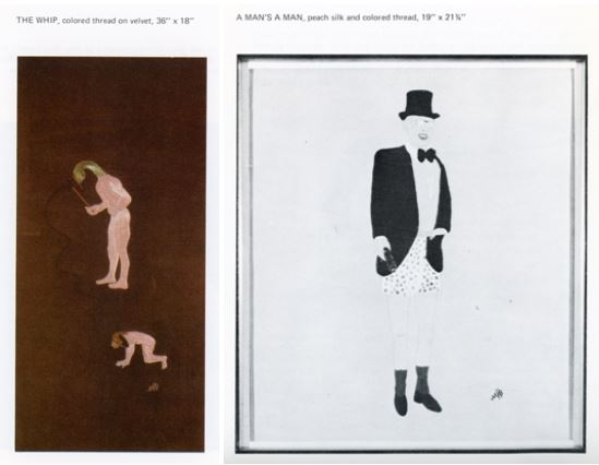 The Whip and A Man's A Man, from Six Naives: Ashby, Borkowski, Fassanella, Nathaniel, Palladino, Tolson exhibition catalog, 1973, Akron Art Museum Archives