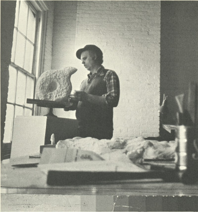 March 1973, starting clay Q.  Oldenburg: The Inverted Q exhibit catalog, 1977, Akron Art Museum Archives