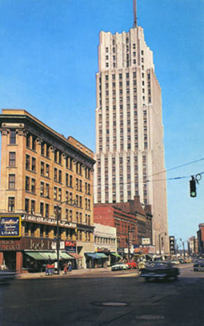 The FirstMerit tower, circa 1950s.