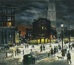 Raphael Gleitsmann, Winter Evening, c1932