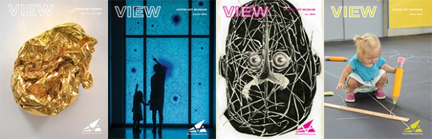 Cover images the 2014 issues of VIEW magazine