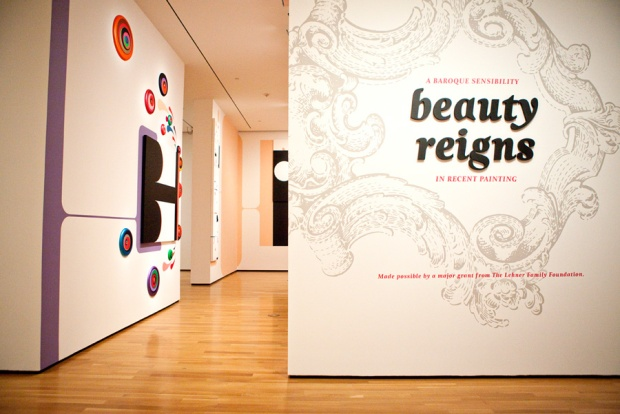 Beauty Reigns title wall and installation view. Photo by Chris Rutan Photography