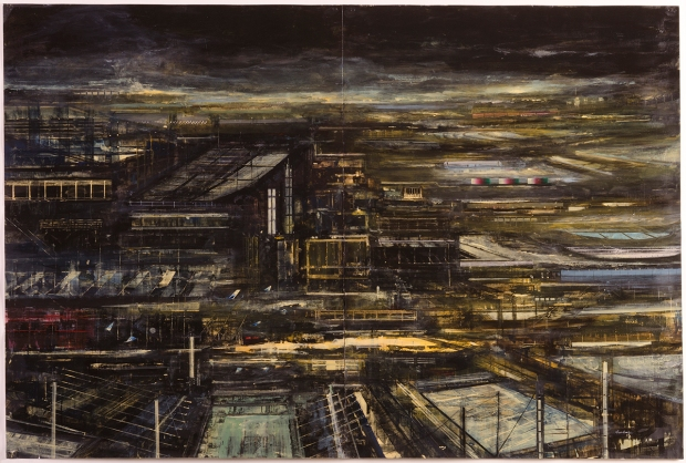 Randall Tiedman, Limbus Patrum #7, 2010, Acrylic and oil on paper