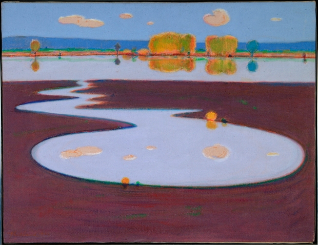 Wayne Thiebaud, River and Slough, 1969