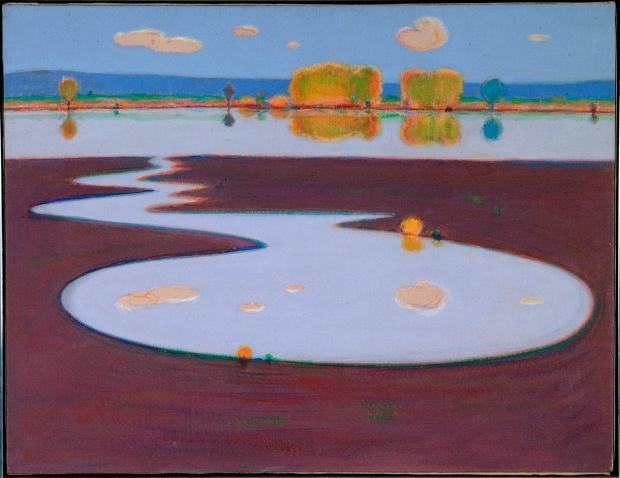 Wayne Thiebaud, River and Slough, 1969