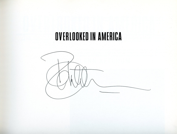 autographed copy of Overlooked in America: Photographs by Robert Glenn Ketchum