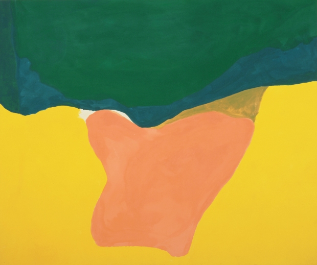 Helen Frankenthaler, Wisdom, 1969, acrylic on canvas, 94 in. x 112 in. Collection of the Akron Art Museum. Gift of the Mary S. and Louis S. Myers Family Collection in honor of Mrs. Galen Roush.