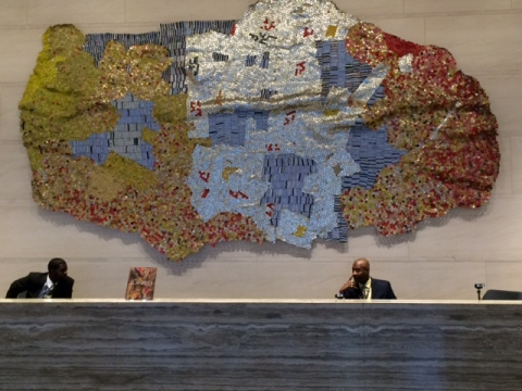 El Anatsui, Bloomberg Building, New York City