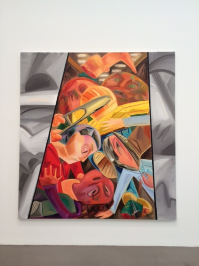 Dana Schutz, Fight in an Elevator 2, 2015, Oil on canvas, 96 x 90 inches