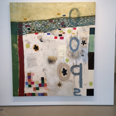 Squeak Carnwath, Beautiful Ugly, 2008, Oil and alkyd on canvas over panel, 90 x 80 in