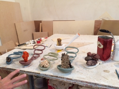 view of John Newman's studio by Janice Driesbach (October 2015)