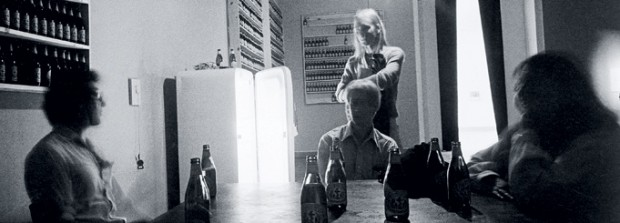 Tom Marioni, The Act of Drinking Beer with Friends Is the Highest Form of Art, 1970 – 2008, 1979 installation view at SFMOMA; © 2008 Tom Marioni; photo: Paul Hoffman