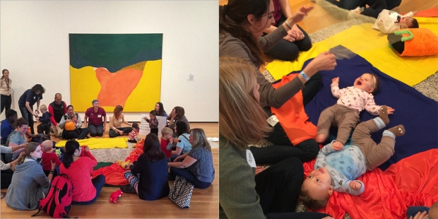 Helen Frankenthaler-inspired Art Babes at the Akron Art Museum