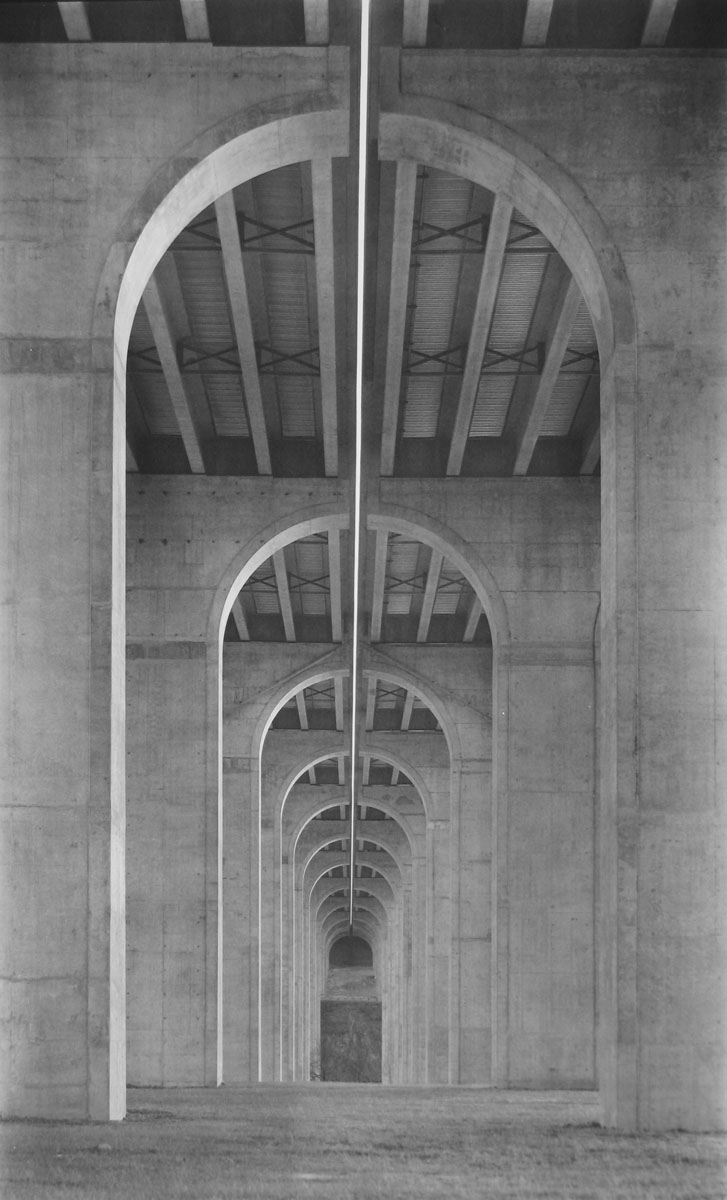 Bob Herbst, Finished Bridges, 2002, platinum/palladium print, 20 x 12 in., courtesy of the artist
