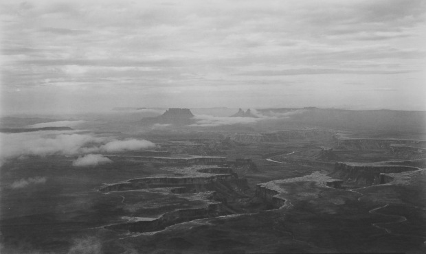 Bob Herbst, Green River Overlook, After the Storm, 2006, platinum/palladium print, 12 x 20 in., courtesy of the artist