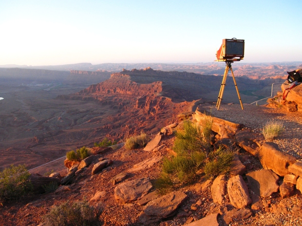 Herbst's 12x20 camera at Hatch Point overlooking Shafer Canyon, courtesy of the artist