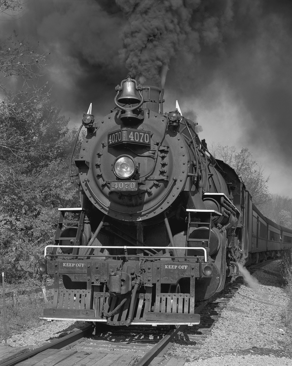 Bob Herbst, No. 4070 at Ira Rd. Crossing, 1989, platinum/palladium print, courtesy of the artist