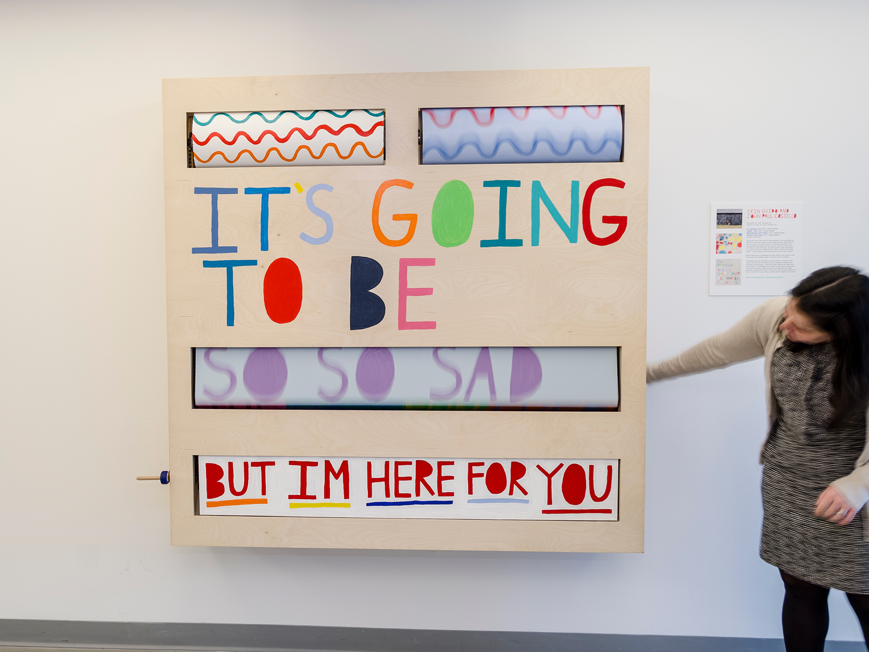 Erin Guido and John Paul Costello, It's going to be, 2017, mixed media, courtesy of the artists. Photography by Joe Levack/Studio Akron