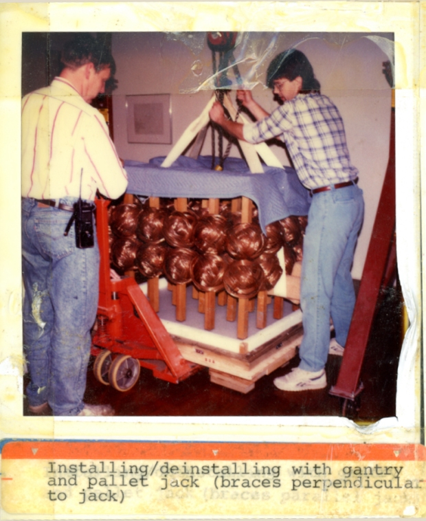 Archival photo of #2 Copper installation in the Akron Art Museum gallery